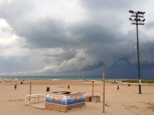 Storm Clouds at Montrose Beach 2013 by Alison Bixby
